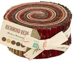 Jelly roll Richmond Reds by Barbara Brackman