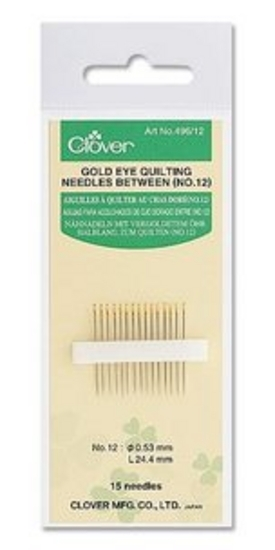 Gold eye Quilting Needles between No. 10