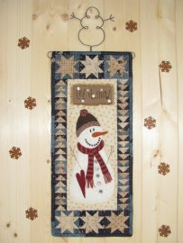 Quiltje 'Let is snow' (19 x 44cm)