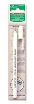 Clover White Marking pen (fine)