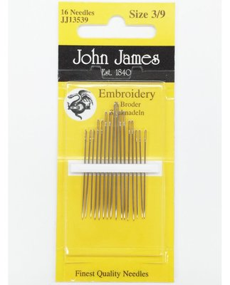 John James Embroidery Size 3-9