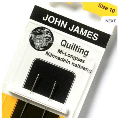 John James Quilting mi-Longues Size 10