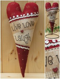 Hart 'Live Love Laugh' (13 x 25 cm